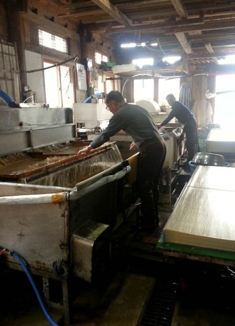 Making paper in Jeonju.