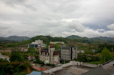 View from my apartment in Eumseong.