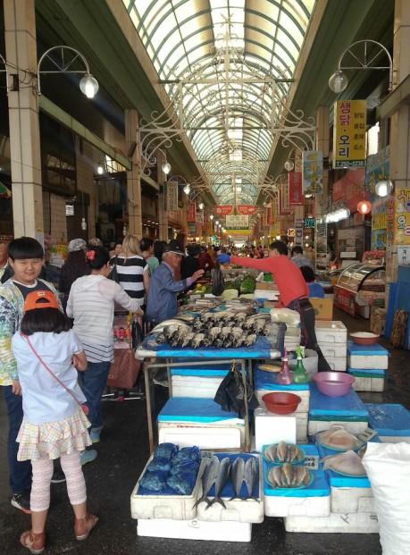 Yookguri Market in Cheongju.