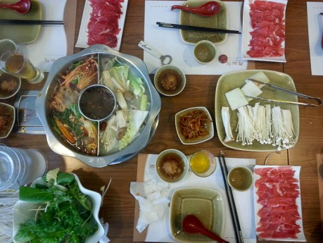 Chinese Shabu Shabu in Seoul. It was delicious!