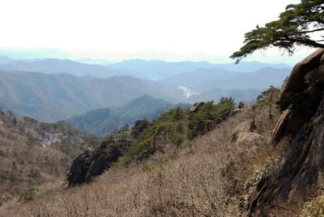View from Munjangdae in Songnisan National Park.