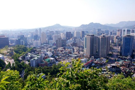 View of Seoul from N Seoul Tower.
