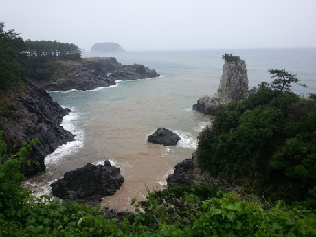 Oedolgae Rock on a Jeju Island.  It was quite stormy that day.