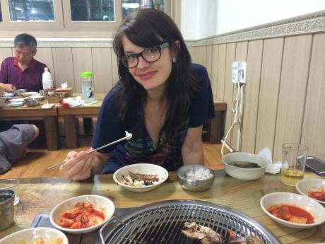 We enjoyed dinner at a fish bbq restaurant on our first night in Sokcho. It was delicious.
