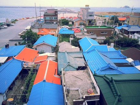 Abai Village rooftops.