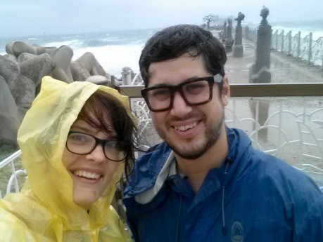 We were able to snap a few photos before being kicked off the beach. Apparently no one is allowed on the beach in really stormy weather.