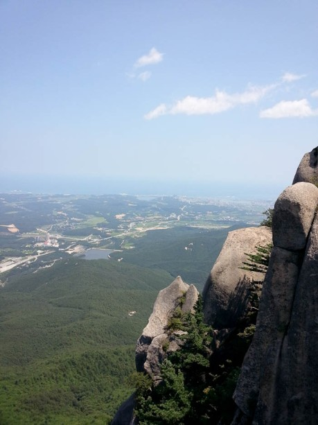 View from the top of Sokcho and the East Sea.