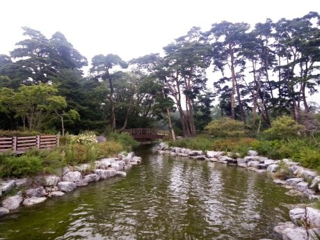 A beautiful stream alongside Gyeongpo Lake.