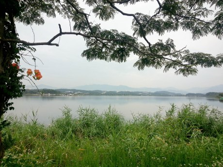 A serene morning at Gyeongpo Lake.