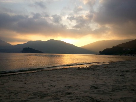 Sunset at Gujora Beach, Geoje Island.