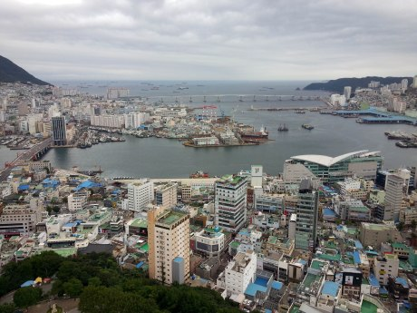 View of Busan and Nampo Port from Busan Tower.