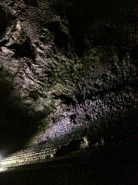 The underground lava tube.