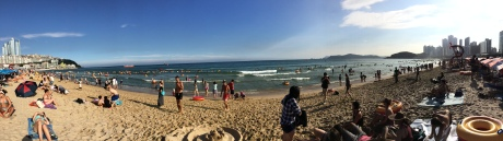 A panorama of Haeundae. Photo by David.