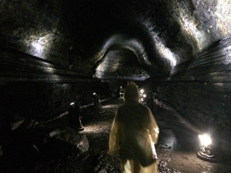 Exploring the Manjanggul Lava Tube.