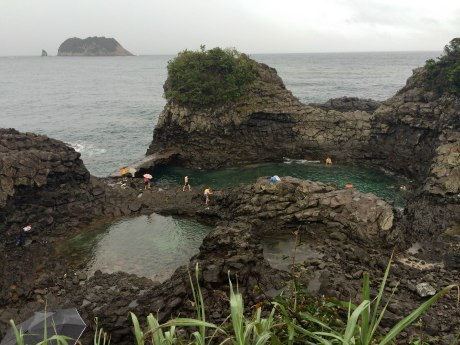 We stumbled upon this swim spot (the rain didn't seem to keep many people away) in Seogwipo.