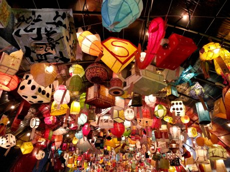 Lanterns at the Jinju Lantern Festival.
