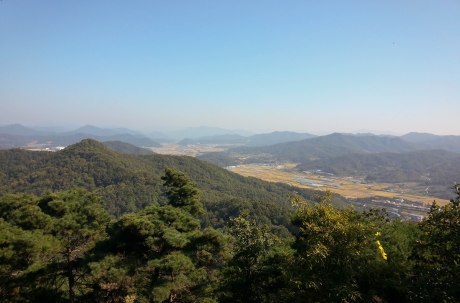 View from Sujeong Mountain in Eumseong.