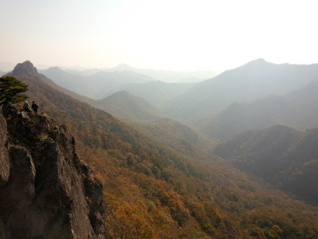 Fall hiking in Naejangsan National Park.