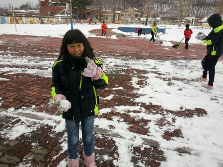 """Emily Teacher, I'm going to throw this snowball at you, ok?"""