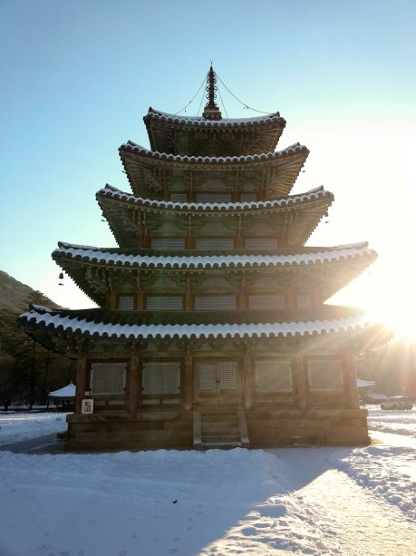 Palsangjeon in the sunlight at Beopjusa Temple.