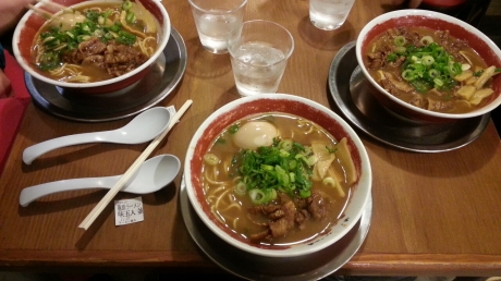 Delicious ramen with pork and a soft boiled egg. There were also bowls of fresh eggs on each table that you could crack into your ramen or on top of a bowl of rice.