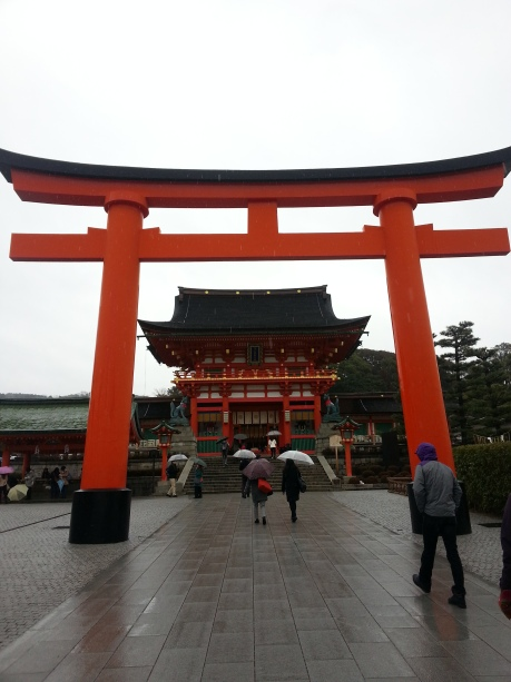 The entrance to Fushimi Inari Taisha, a shrine in Kyoto.