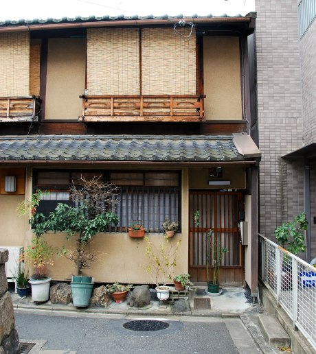 The entrance to a typical Japanese house.