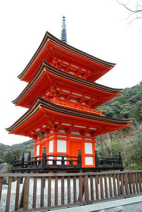 A temple at Kiyomizu-dera.