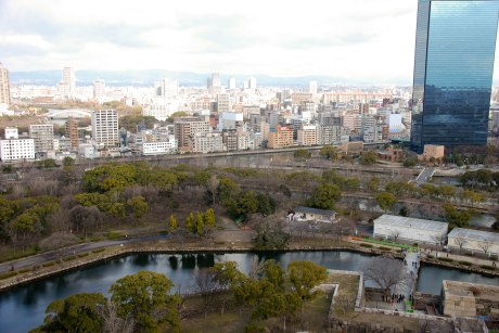 View from the top of Osaka Castle.
